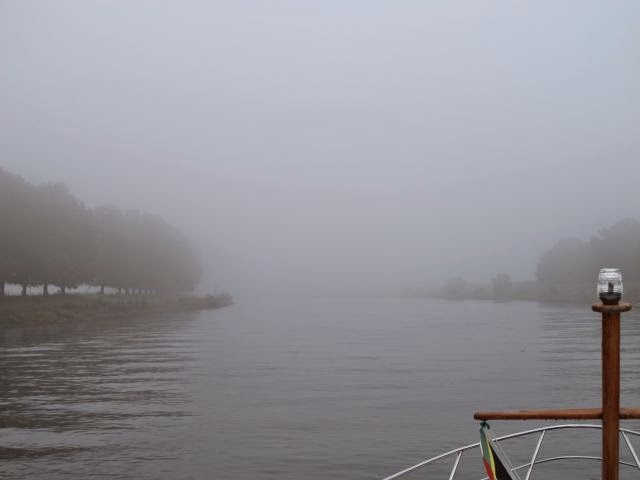 Netherlands inland waterway trip – Fog on the Ijssel