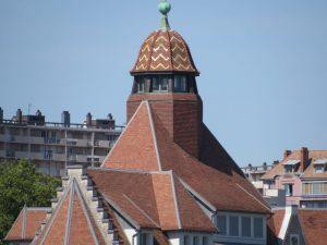 Tiled bell tower