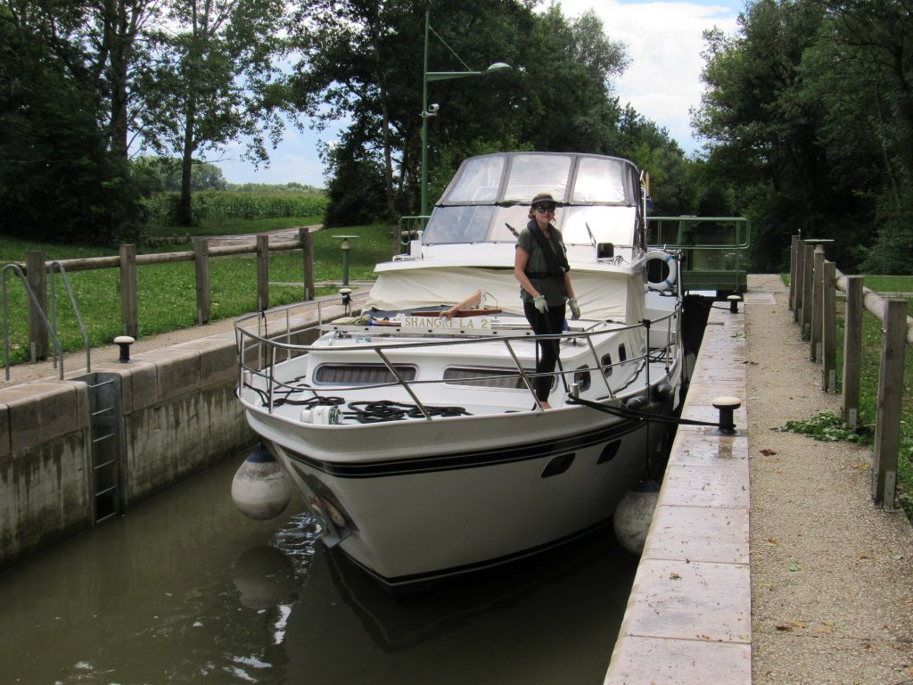 Locking on the River Seille
