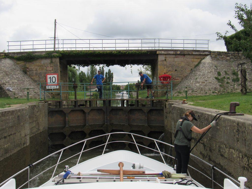 River Seille first lock