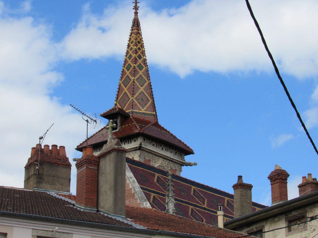 Louhans - glazed tile steeple