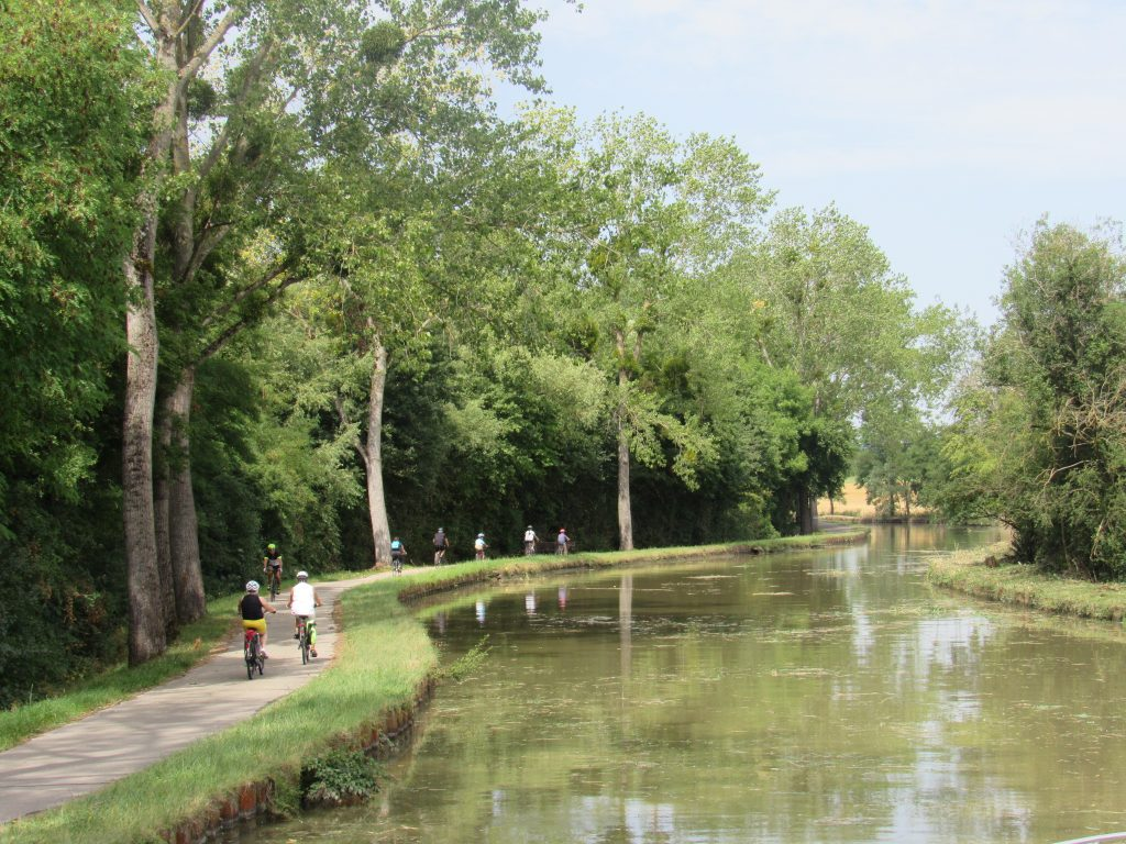 Sharing the towpath with cyclists