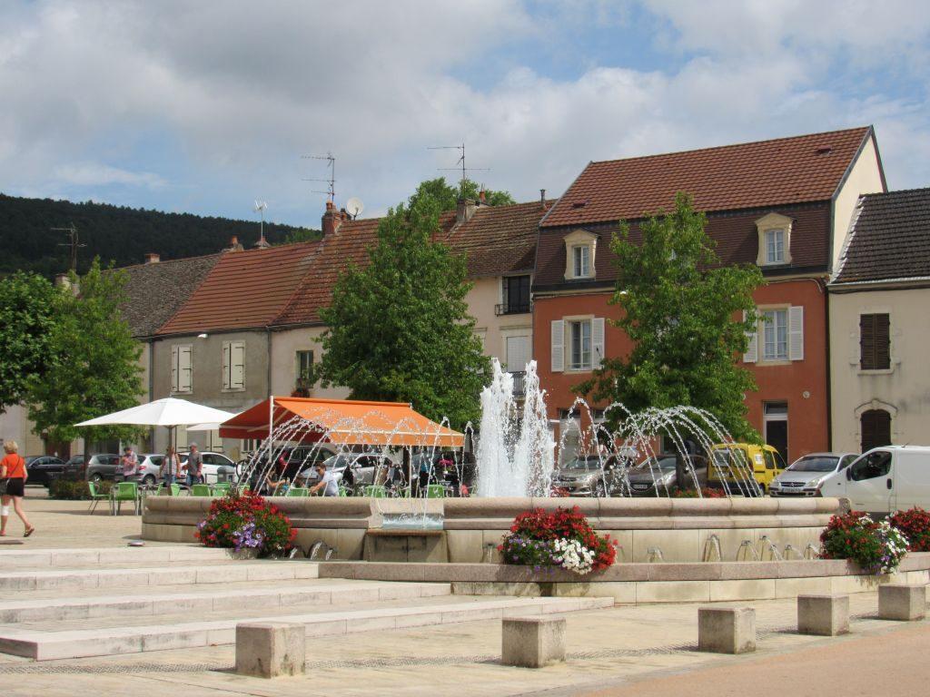 Santenay - village square