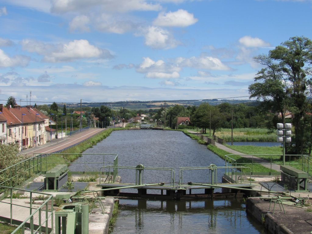 Looking back down the lock chain