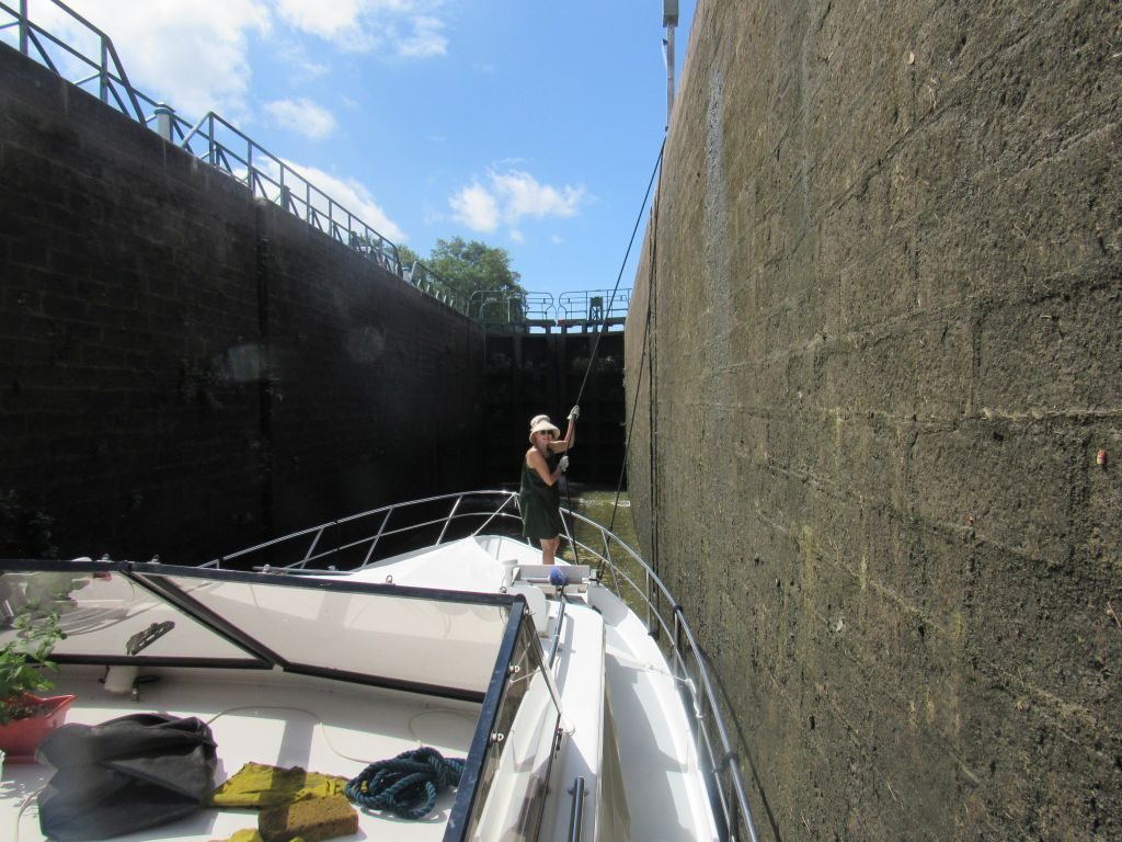 Last lock on Canal du Centre