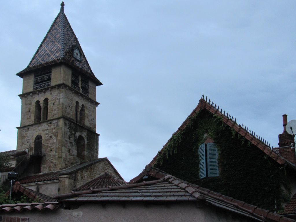 Briennon - typical tiled roof steeple