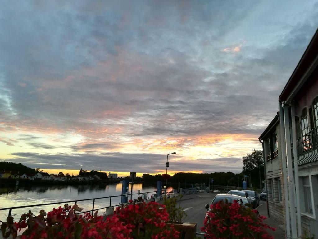 Sunset at Brasserie du Port - St Jean-de-Losne
