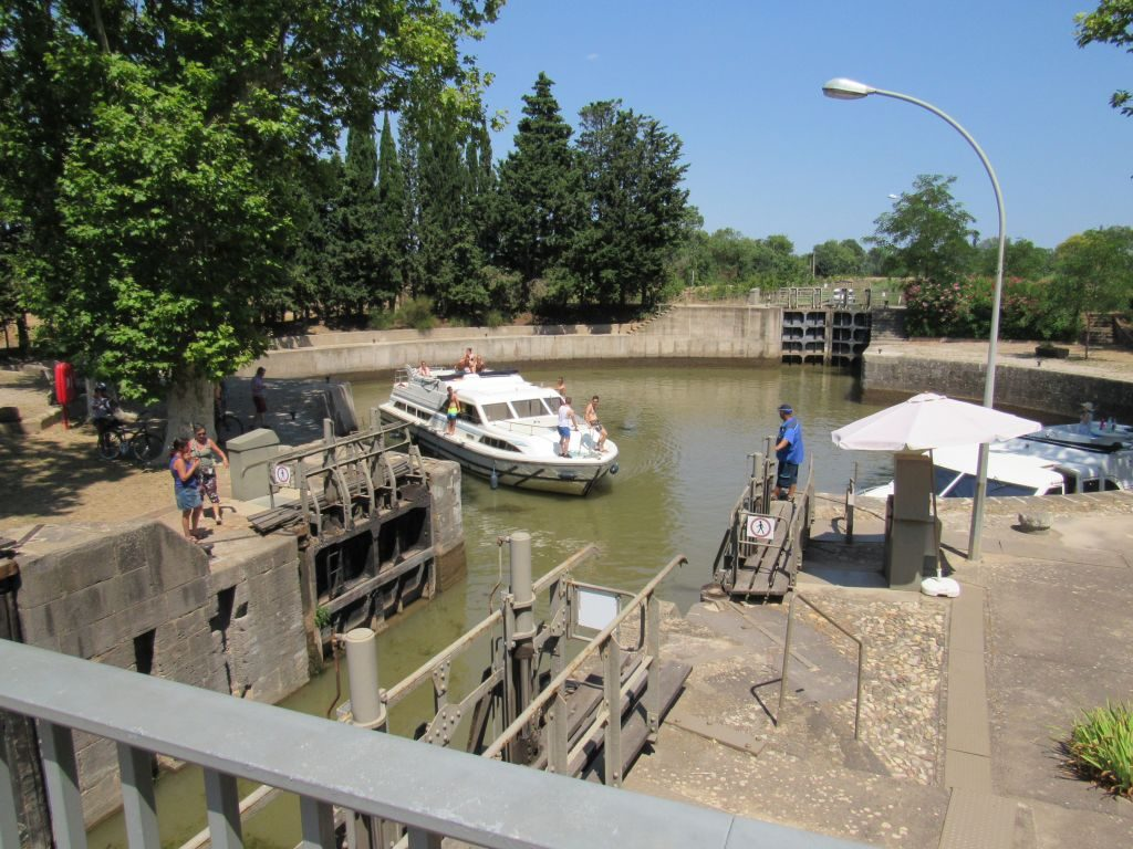 Agde - 3 way lock on the Canal du Midi