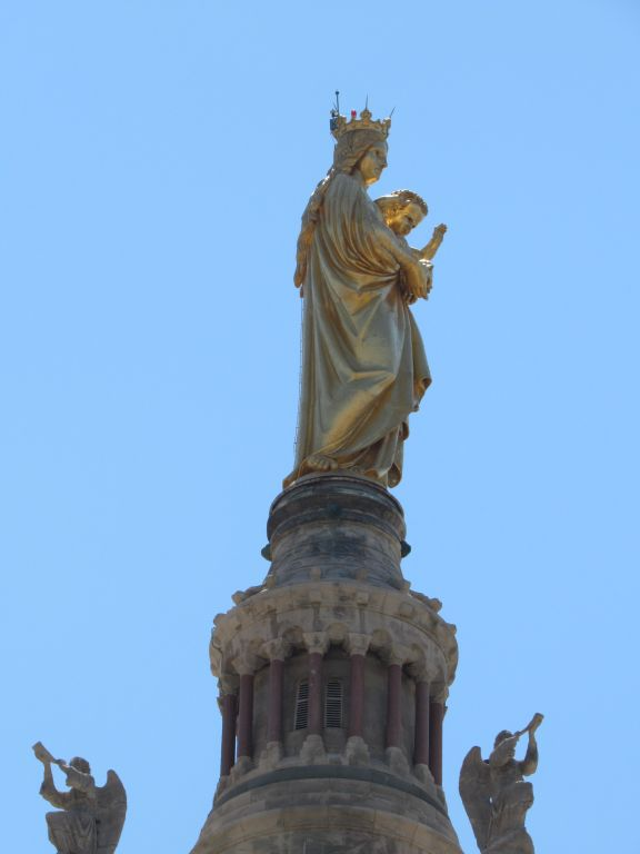 Marseille - Gold statue of Notre Dame