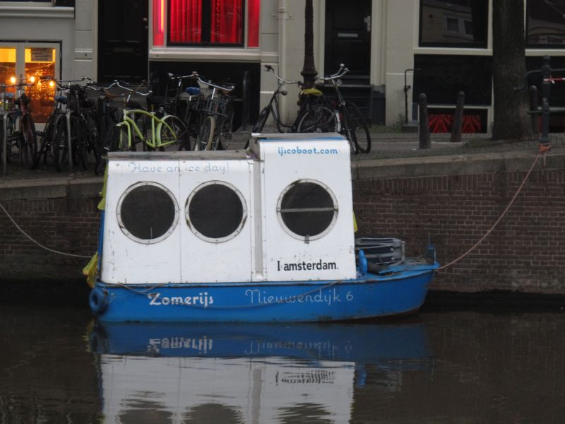 Ice cream boat in Amsterdam