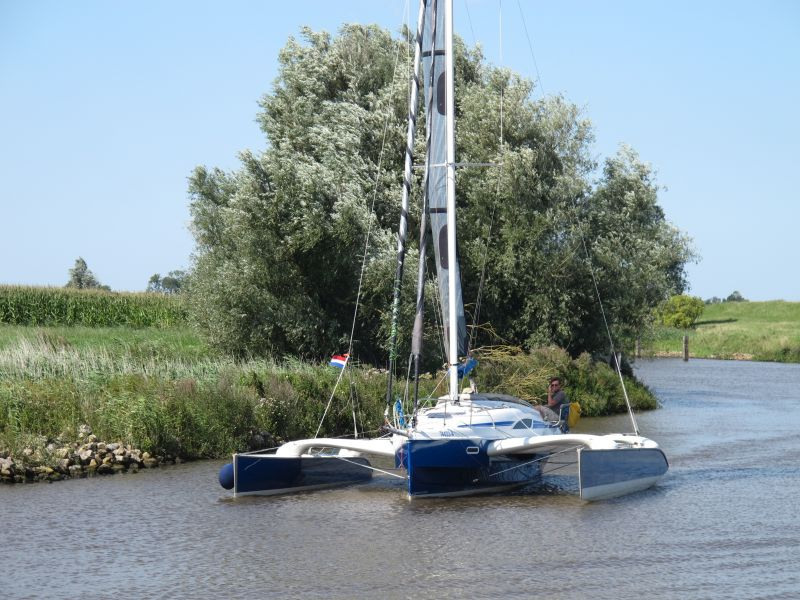 Trimaran on the Rietdiep