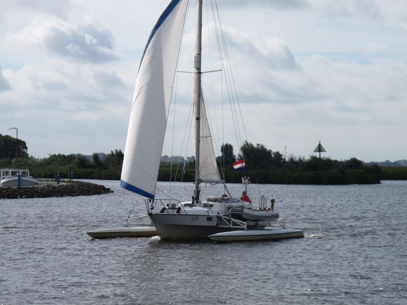 Trimaran on the Sneekermeer