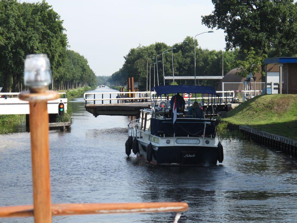 Swingbridge on the Drenthe Hoofdvaart