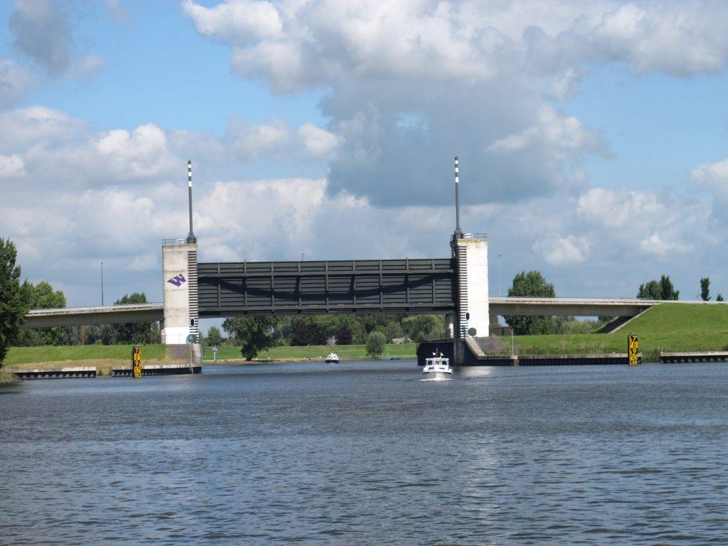 Bridge and flood barrier on the Afgedamde Maas