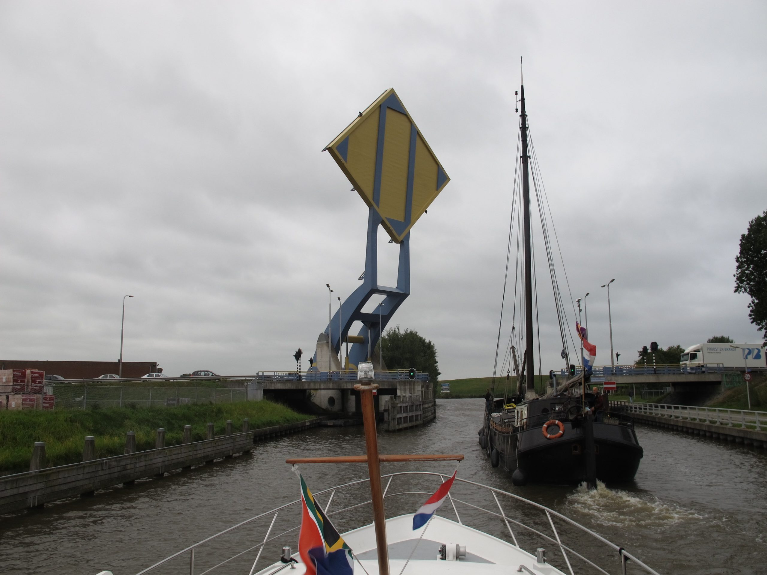 Modern Lift Bridge near Leeuwaarden